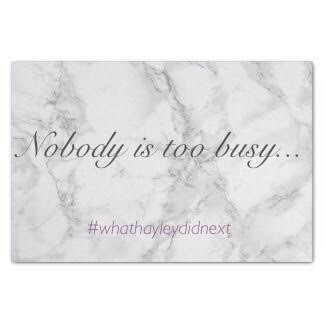 "Since when did we become ""too busy""?"