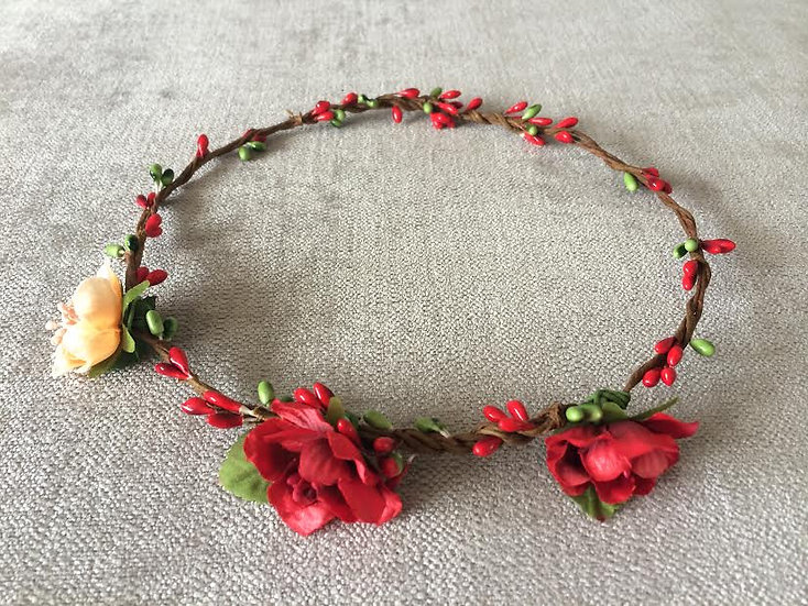 Flower crown red small