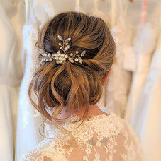 soft romantic bridal hairup style perfect for any wedding day : hair by Hayley Laws