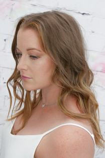 Wavy loose bridal hairstyle. By hayley laws