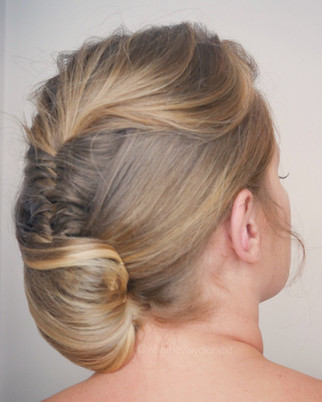Mohawk with a twist bridal hairstyle. or just for an event style. by Hayley Laws