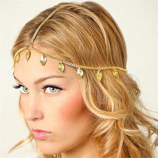 Metal  feather hair jewellery