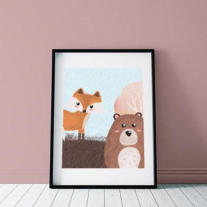 Мишка и лисичка