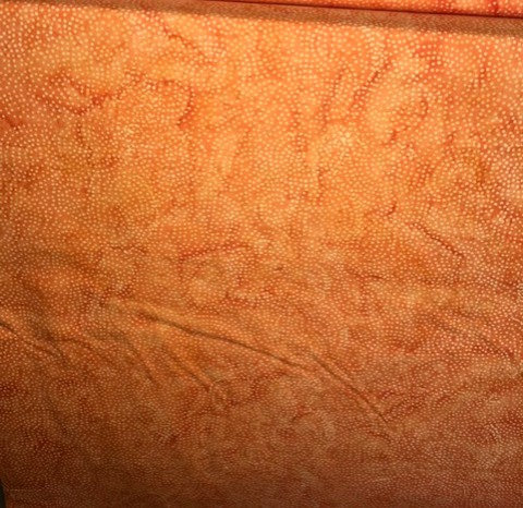 Island Batik - Crisp orange with dots