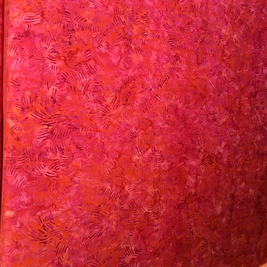Island Batik - Hot pink with orange and red