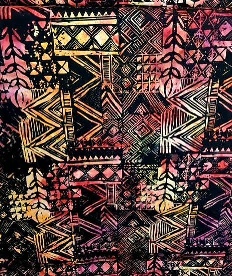 Timeless Treasures Tonga - Black tribal
