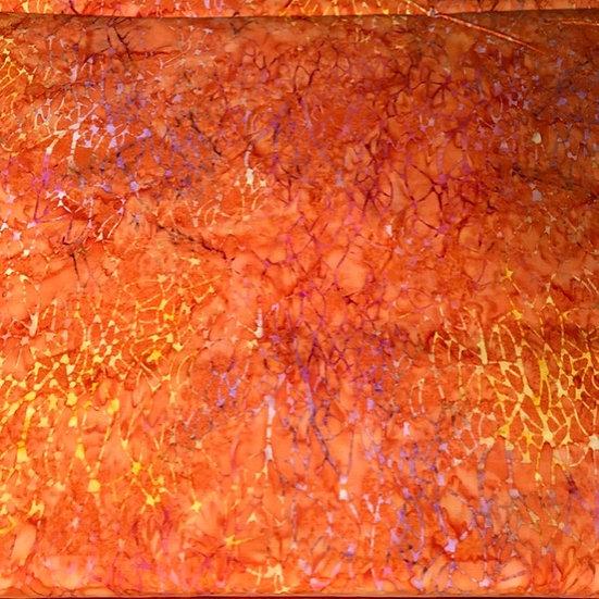 Island Batik - Orange with lighter colors