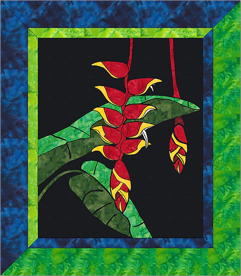 Crab Claw Heliconia - Hawaiian Tropical Stained Glass