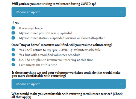 Take the COVID-19 Volunteer Survey