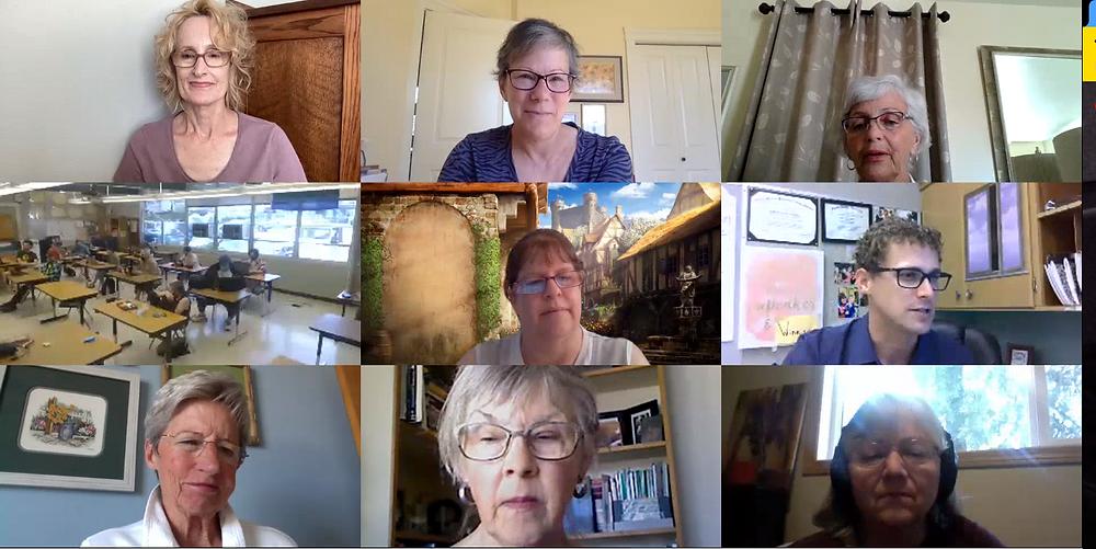 Screenshot from a virtual Teams meeting