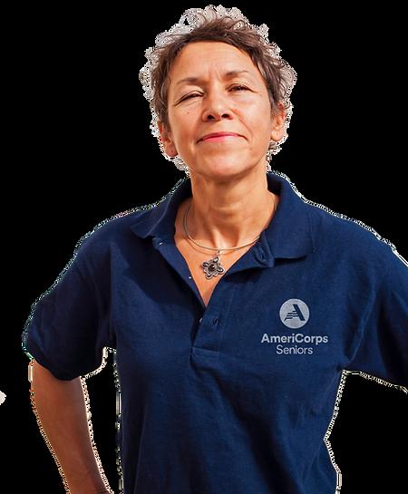 Female AmeriCorps Seniors volunteer in polo shirt