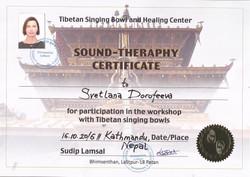 Обучение звуковой терапии, Катманду, ведущий Мастер Судип Ламсал,