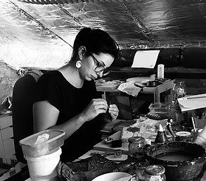 atelier Marie Courtillat bijoux en porce
