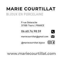 verso carte de visite Marie Courtillat b