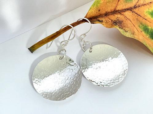 Full Moon Sterling Silver earrings