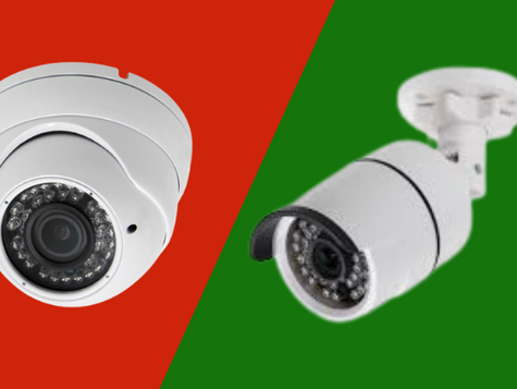 What is difference between Dome Cameras & Bullet Cameras?