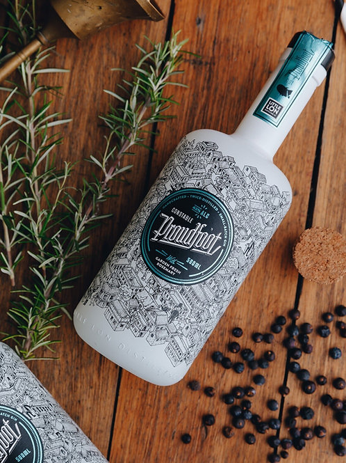 Proudfoot. London Dry-Style Gin with Garden Fresh Rosemary.