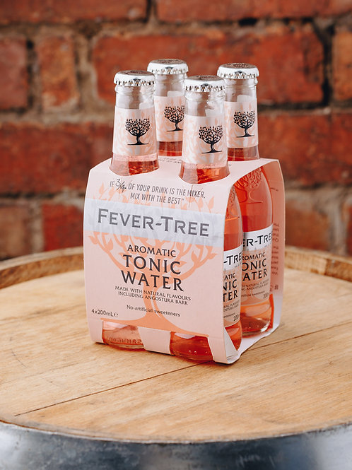 4 x pack Fevertree Aromatic Tonic Water