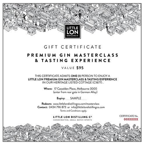 PREMIUM MasterClass Gift Certificate - for 1
