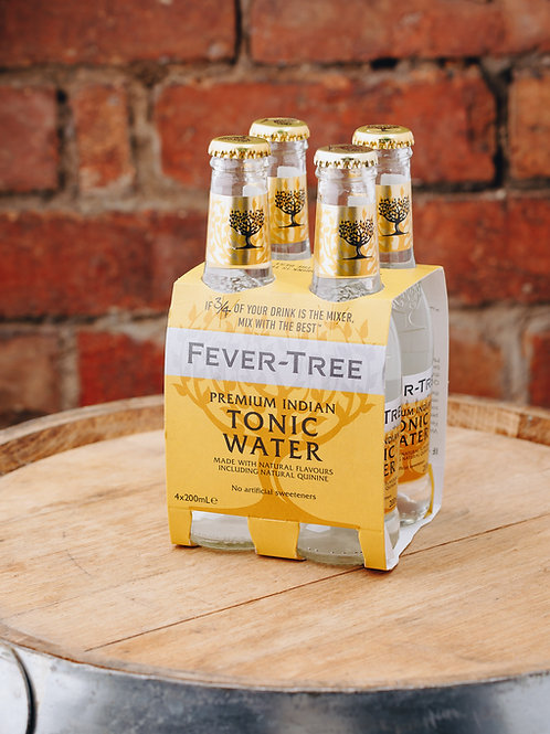 4 x pack Fevertree Premium Indian Tonic Water