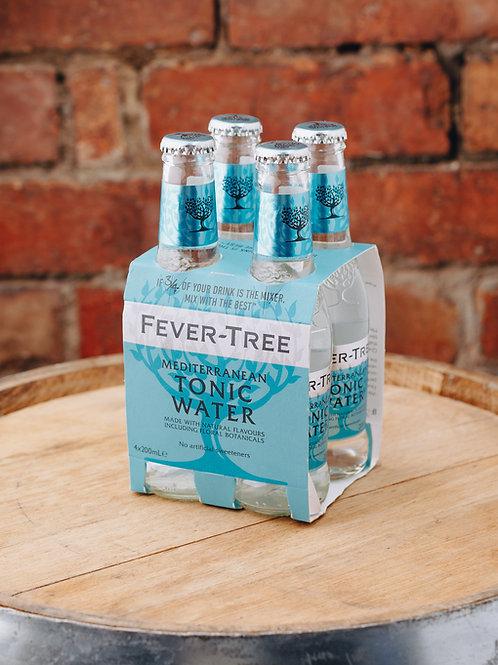 4 x pack Fevertree Premium Mediterranean Tonic Water