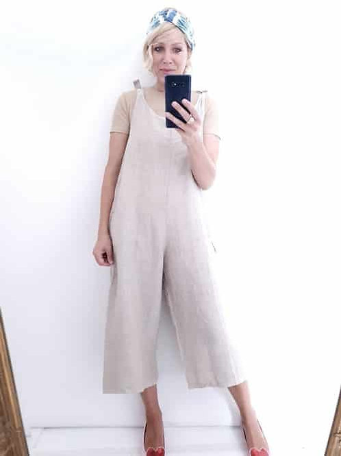 Helga May Plain Linen Jumpsuit