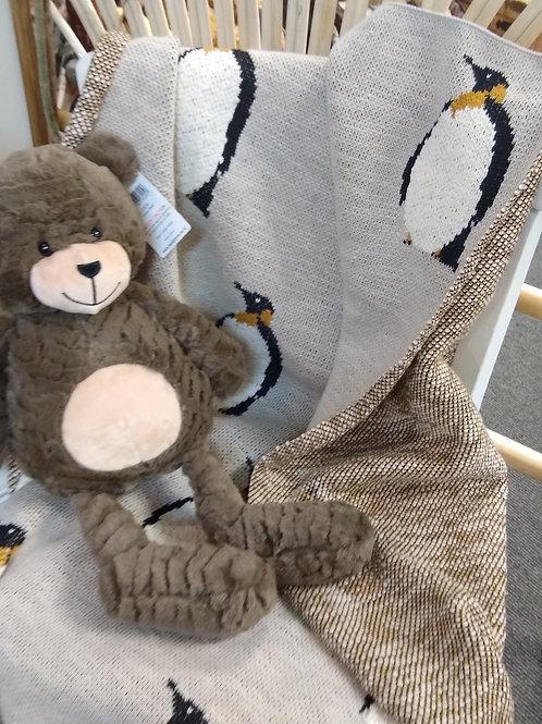Petrone Knit Penguin Cotton Throw