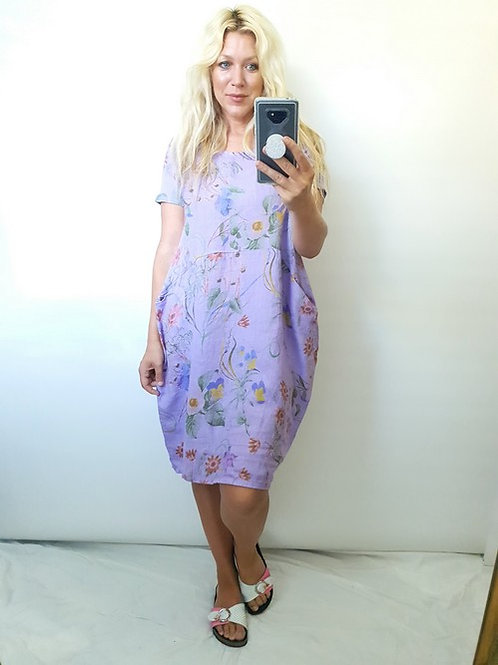 Helga May Lavender Herb & Twirl Jungle Dress
