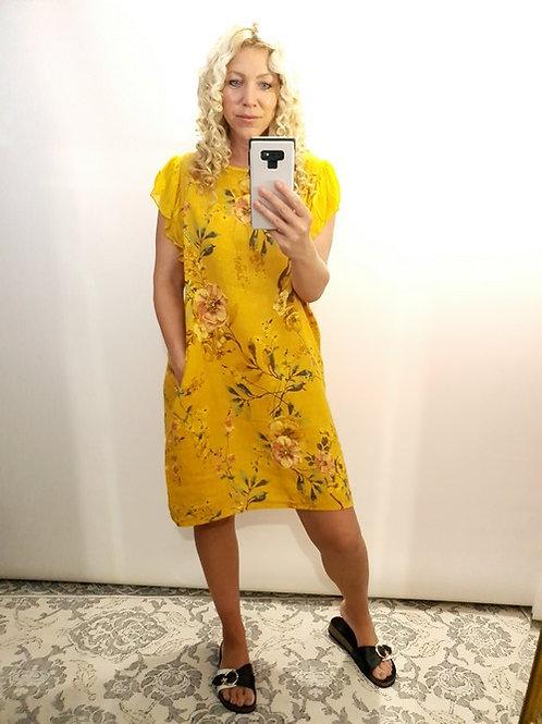 Helga May Mustard Royal Meadow Dress