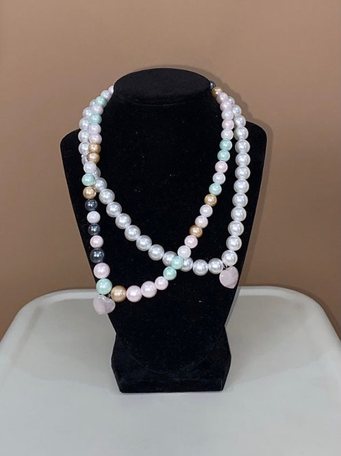 PB PearlHearts Necklace