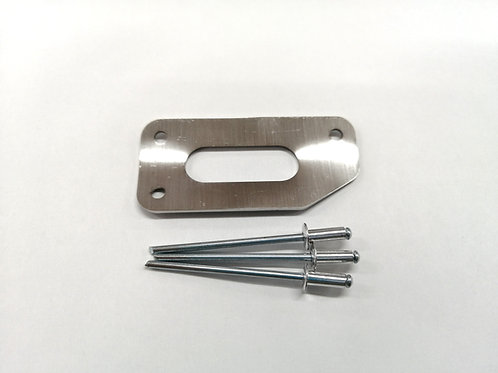 SUS1.2tハリヤードガード(3.2mmリベット付3本)