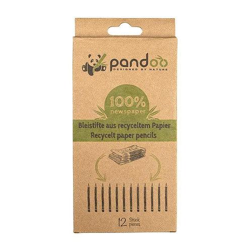 Pastelli colorati in carta riciclata (12pezzi) ~ Pandoo