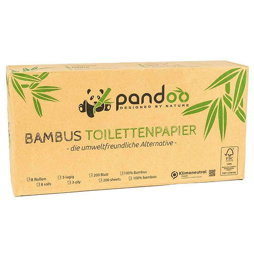 Carta igienica in bambù (8 rotoli) ~ Pandoo