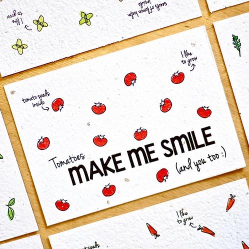 Cartolina piantabile~Bloom your message
