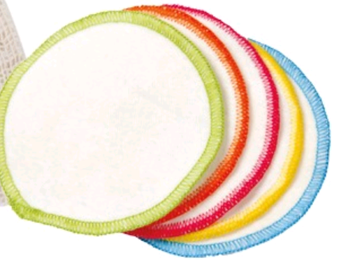 Dischetti struccanti lavabili in cotone