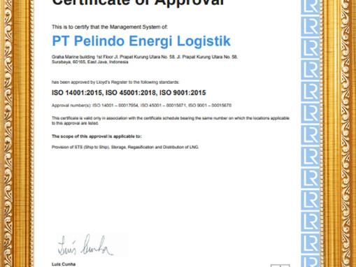 PT Pelindo Energi Logistik Mulai 2021 dengan Peningkatan Sistem Standar ISO