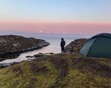 Wild camping with a bump in the Outer Hebrides