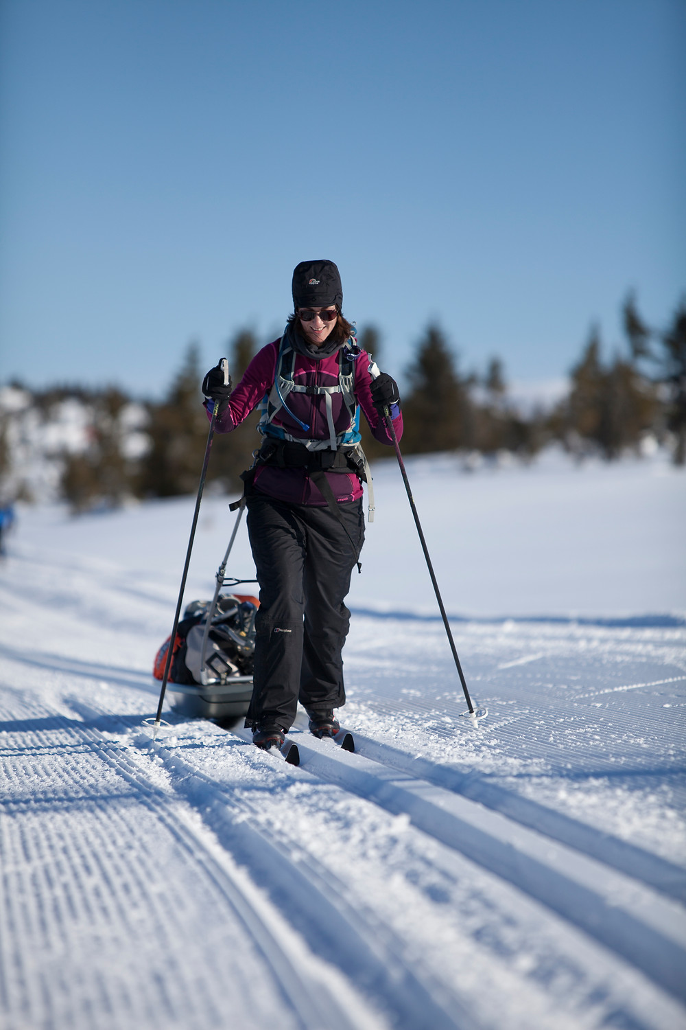 Cross country skiing in Nordsetter, Norway