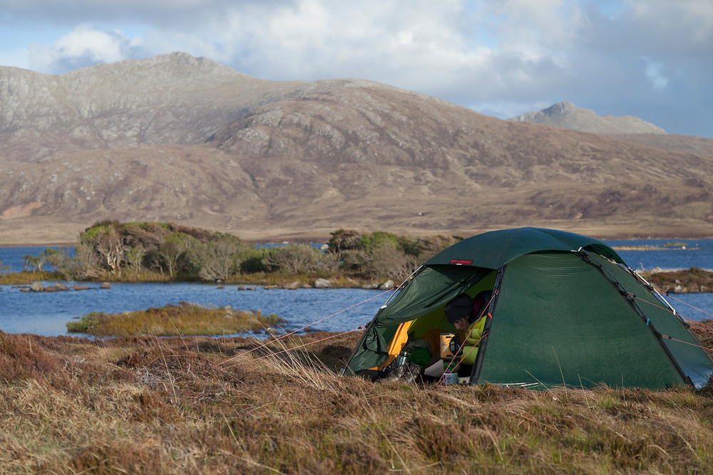 Wild camping in the Staika, Scotland