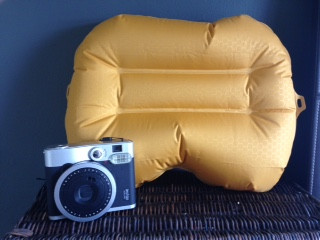 Exped air pillow - yellow. Size when inflated