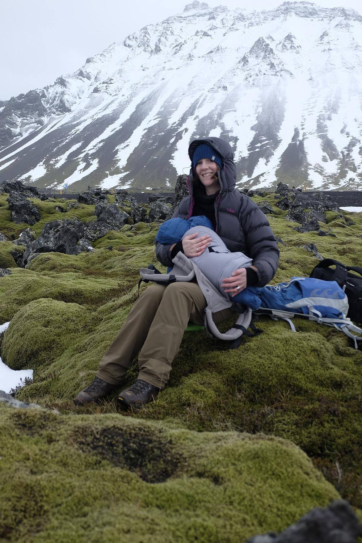 Feeding baby in sub-zero temperatures
