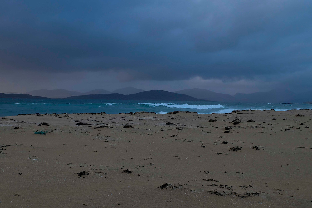 Storm on the beach on Berneray, Outer Hebrides