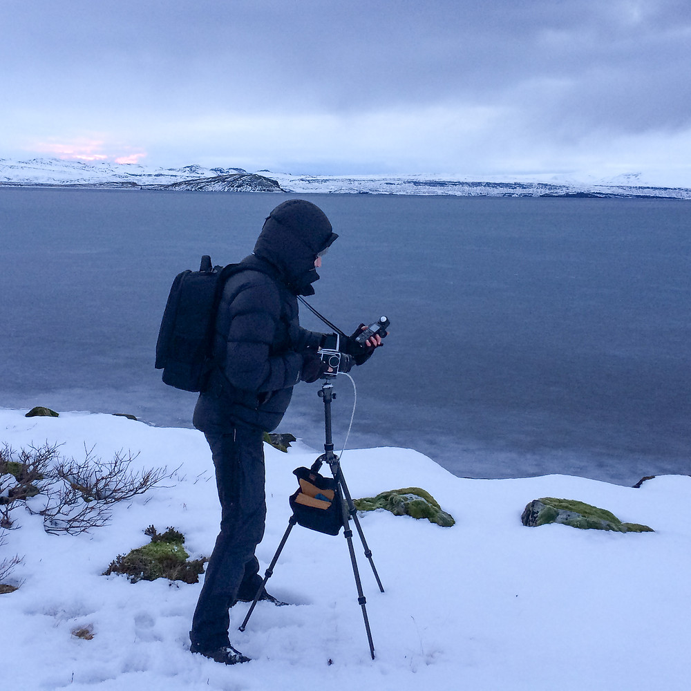 Using the tripod in snowy Iceland