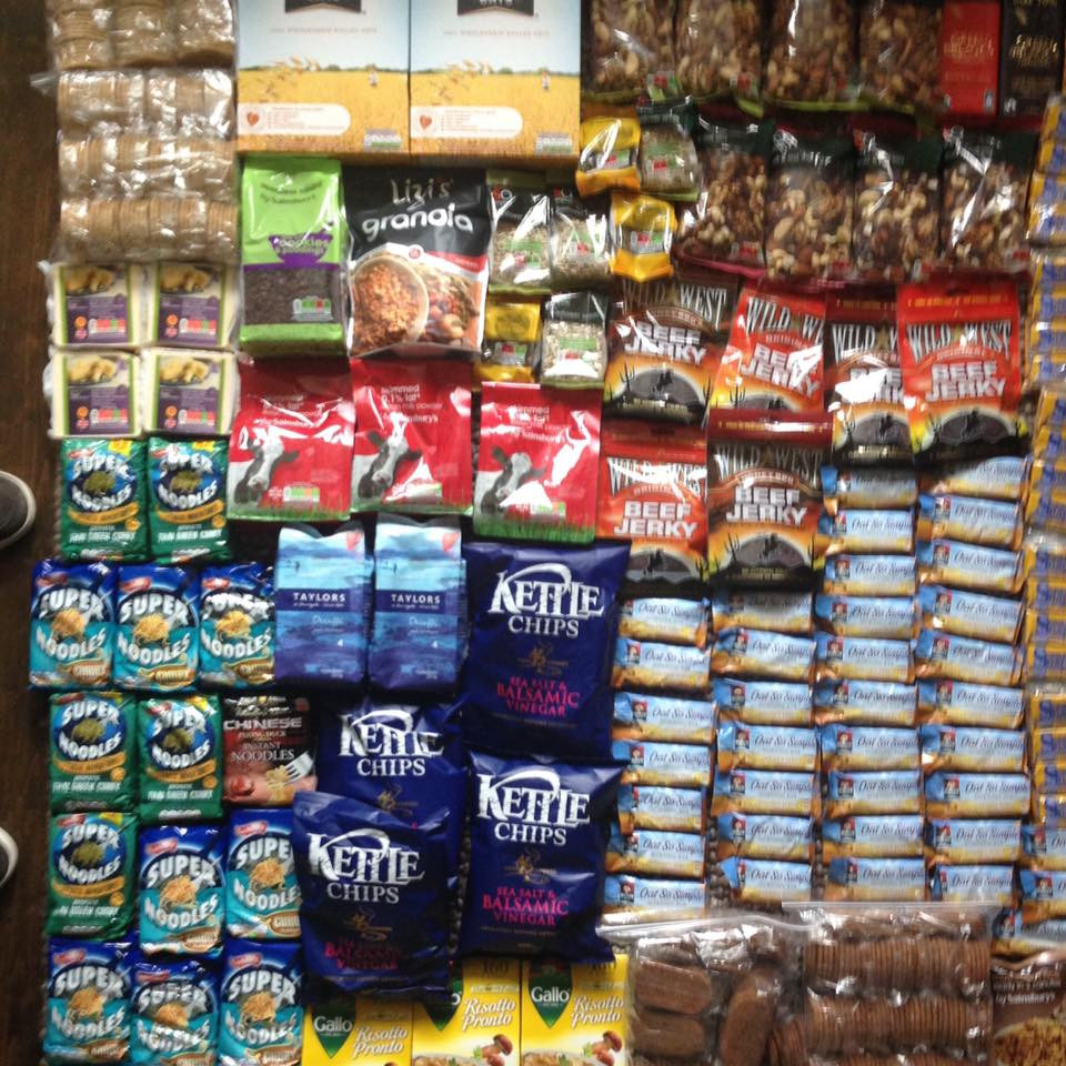 Packing food for wild camping