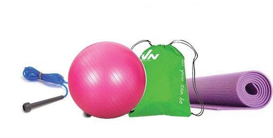 ערכת ספורט - מזרון יוגה + כדור פילאטיס + חבל קפיצה + תיק
