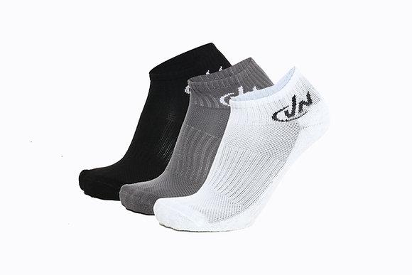 גרב ריצה קרסולית ריצה , מיקס: שחור / לבן / אפור