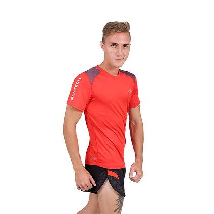 חולצת ריצה גבר - 771882 - שחור אדום