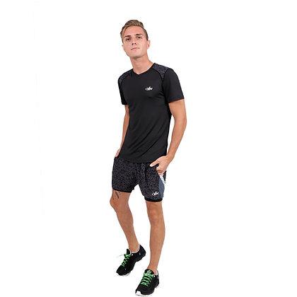 חולצת ריצה גבר - 771882 - שחור