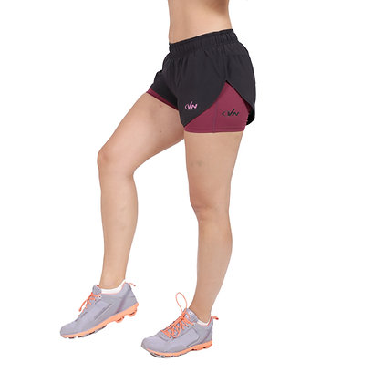 מכנס ריצה + טייץ נשים - 881888 - סגול מלאנג