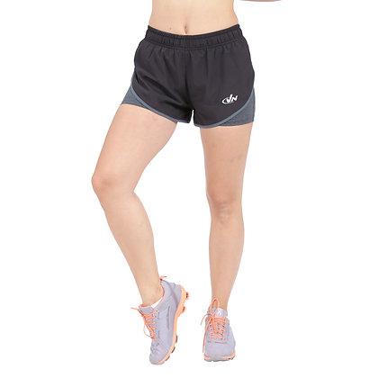 מכנס ריצה + טייץ נשים - 881888 - שחור